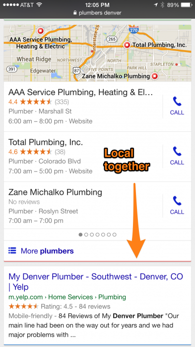 Google testing mobile search changes