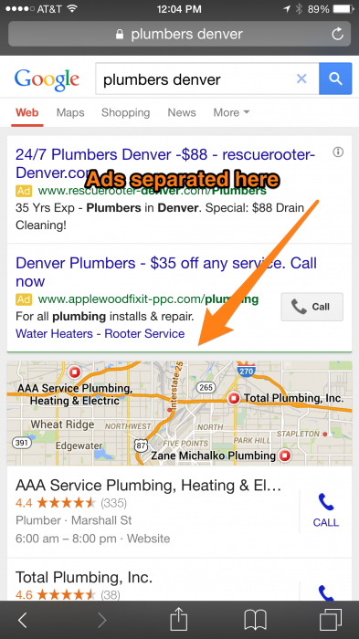 Google testing mobile search layout changes