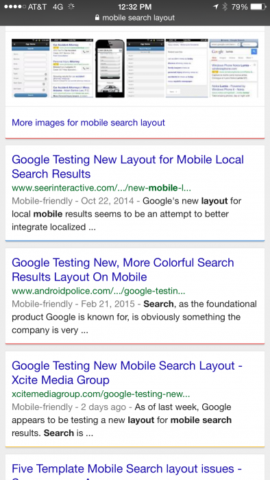 mobile search layout xcite results